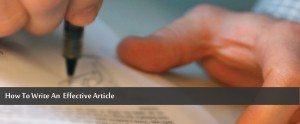 Como redigir um artigo