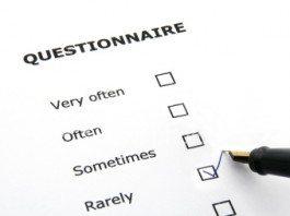 Questionários de pesquisa
