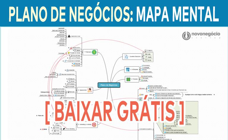 Baixe grátis o Mapa Mental do Plano de negócios Grátis.